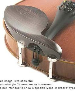 Guarneri 4/4 Violin Chinrest - Ebony with Standard Bracket